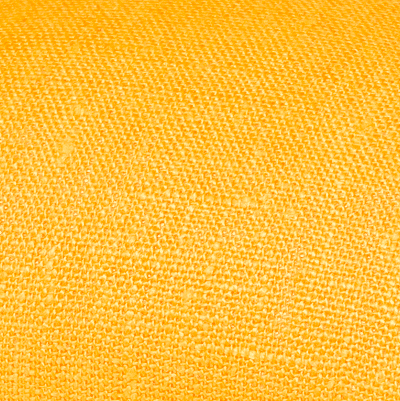 Yellow linen fabric by metre
