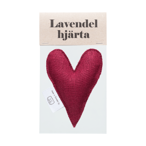 Burgundy lavender heart in bag