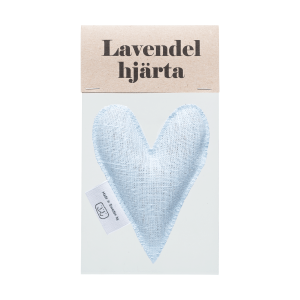 Light blue lavender heart in bag