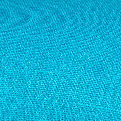 Turquoise linen fabric by metre
