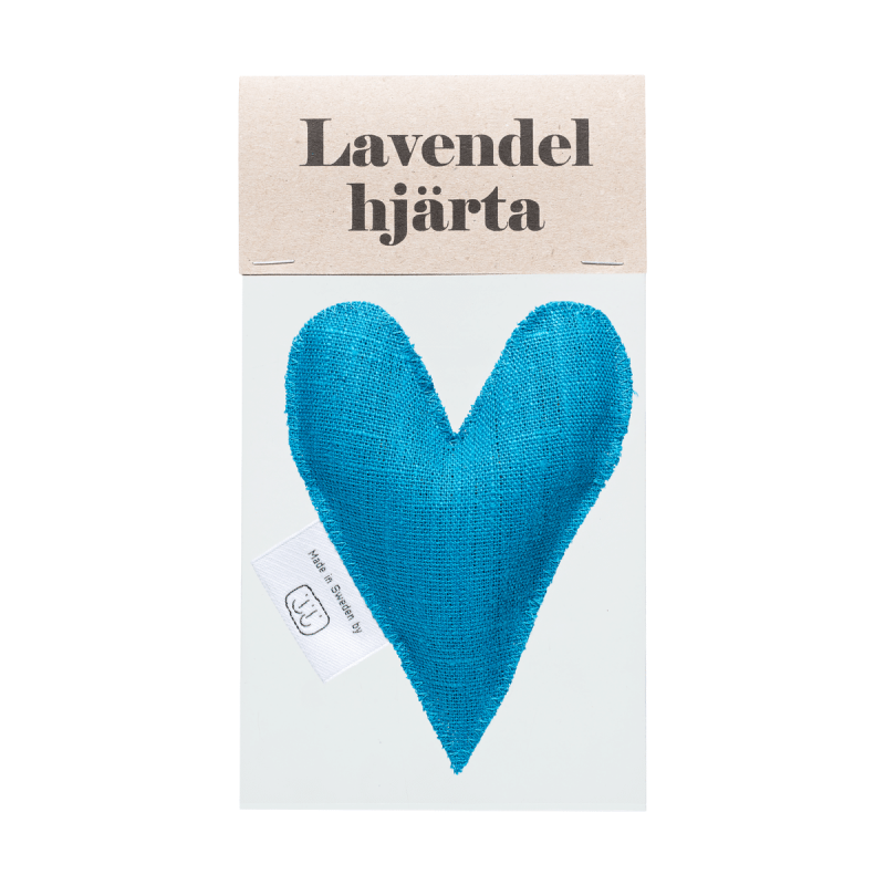 Turquoise lavender heart in bag