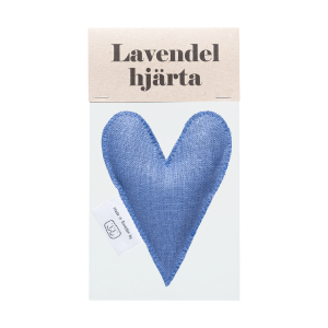 Denim lavender heart in bag