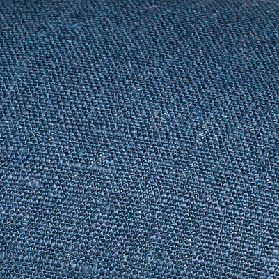 Navy blue linen fabric by metre