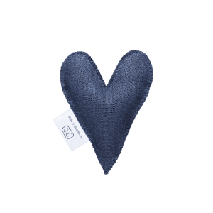 Navy blue lavender heart