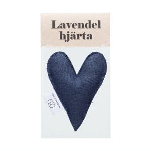 Navy blue lavender heart in bag