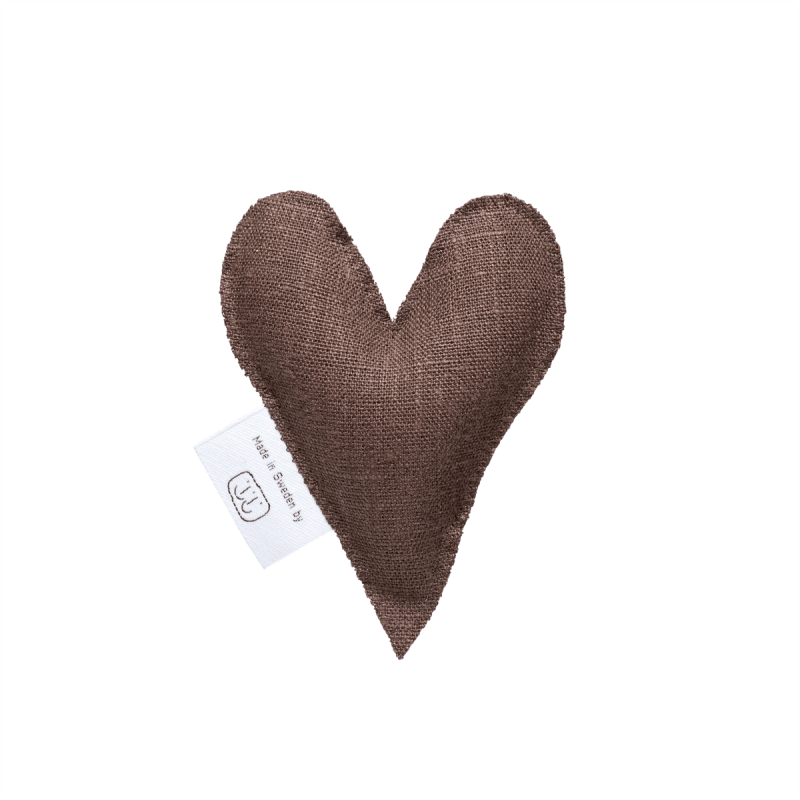 Brown lavender heart