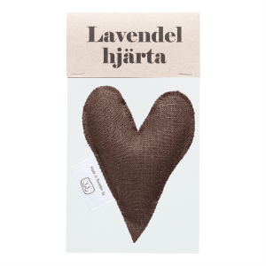 Brown lavender heart in bag