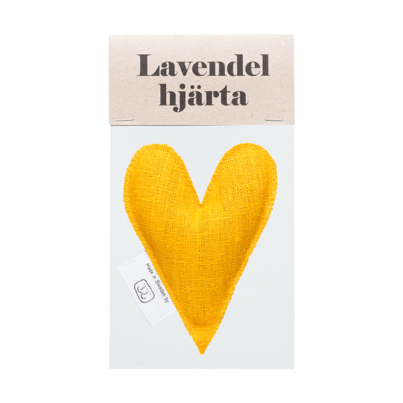 Yellow lavender heart in bag