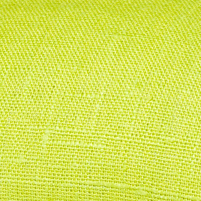 Lime green linen fabric by metre