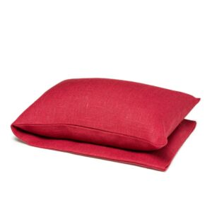 Red wheat warmer in linen