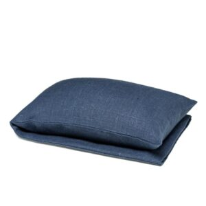 Navy blue wheat warmer in linen