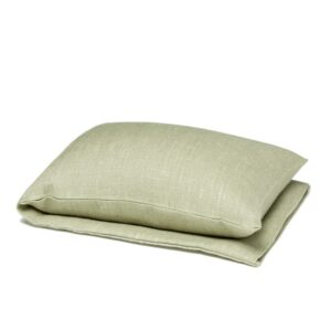 Light olive green wheat warmer in linen