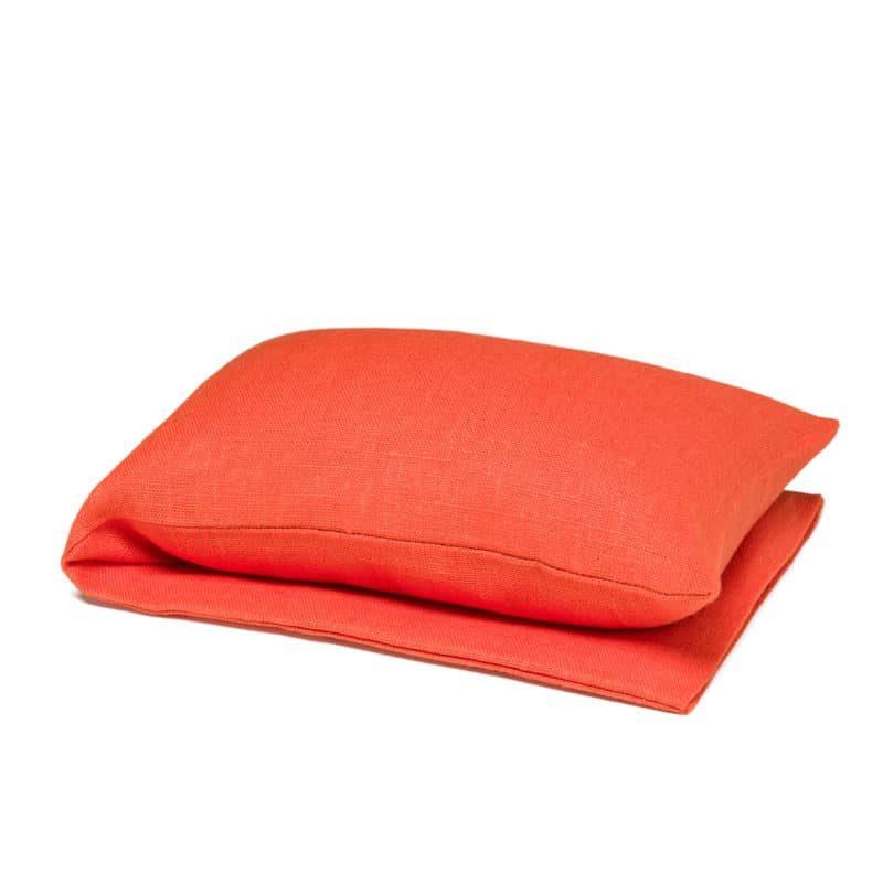 Orange wheat warmer in linen