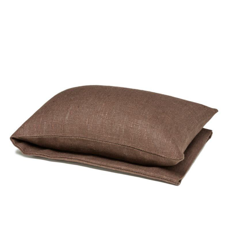 Brown wheat warmer in linen
