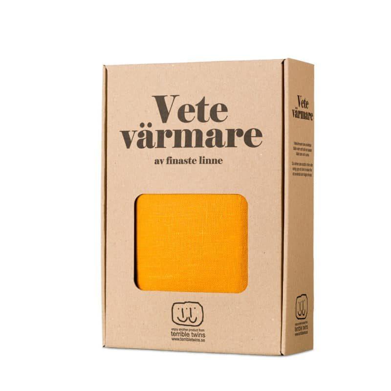 Yellow wheat warmer in box