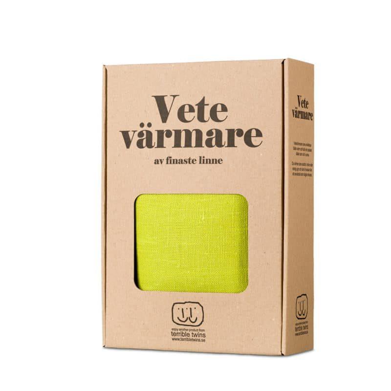 Lime green wheat warmer in box