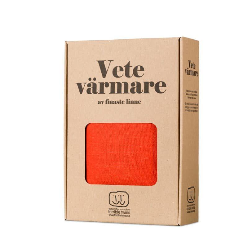 Orange wheat warmer in box
