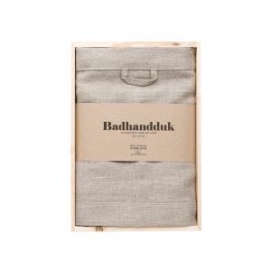 Linen bath towel nature in box 1