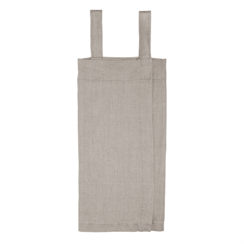 Nature cross-back apron in linen 2