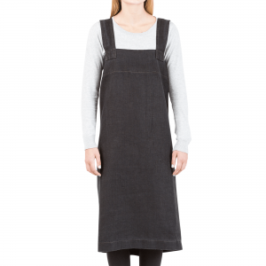 Cross Back Apron - Black