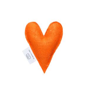 Orange lavender heart