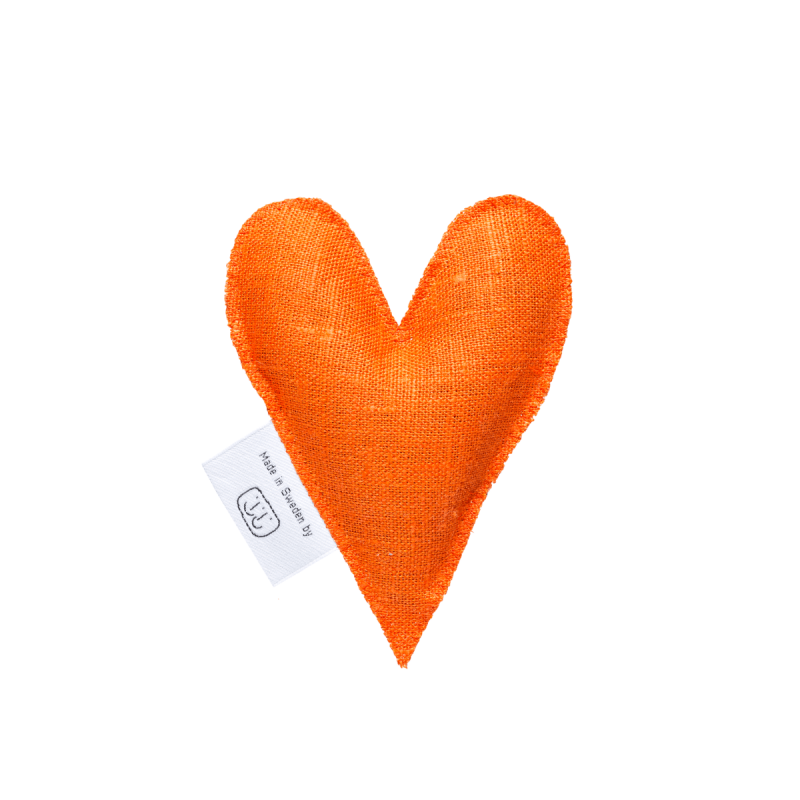 Orange lavender heart