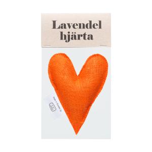 Orange lavender heart in bag