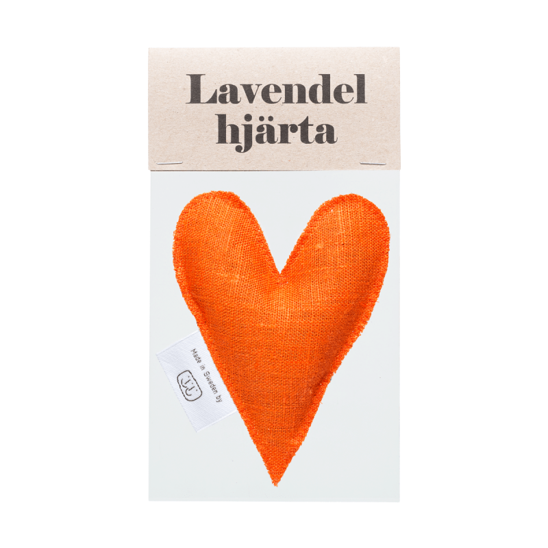 Orange lavender heart in bag