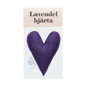 Lilac lavender heart in bag