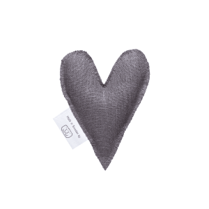 Grey lavender heart