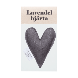 Grey lavender heart in bag