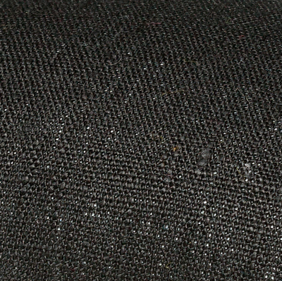 Black linen fabric by metre