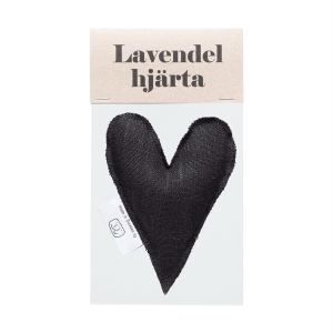 Black lavender heart in bag