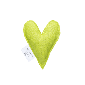 Lime green lavender heart
