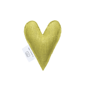 Dark lime lavender heart