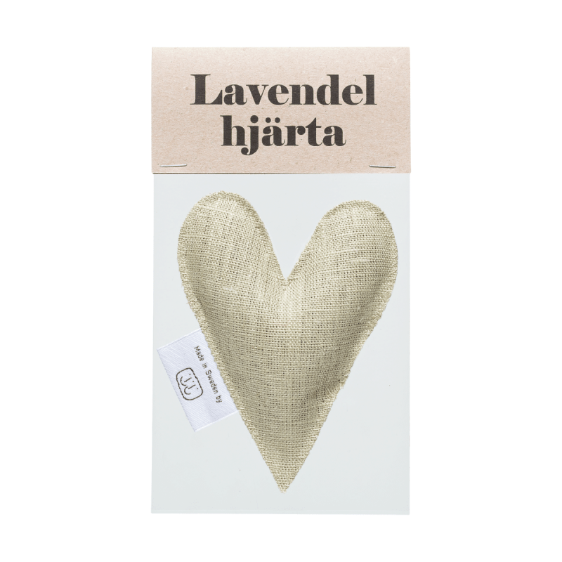 Light olive lavender heart in bag