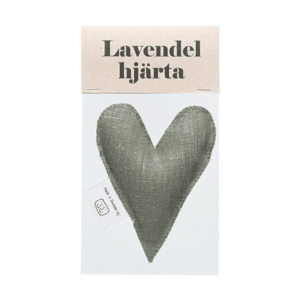Olive green lavender heart in bag