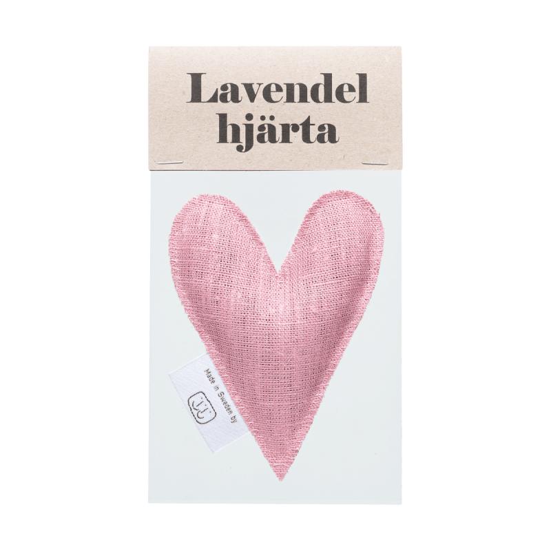 Pale pink lavender heart in bag