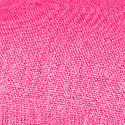Pink linen fabric by metre