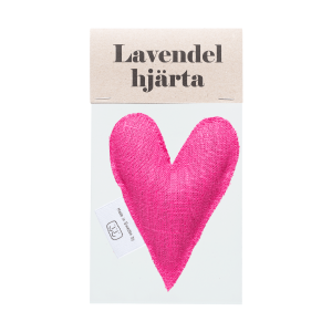 Pink lavender heart in bag