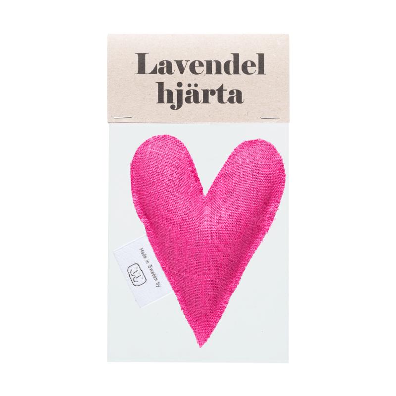 Pink lavender heart in bag