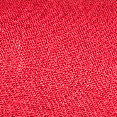 Red linen fabric by metre