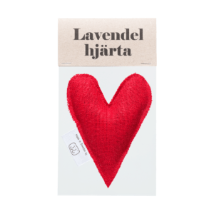 Red lavender heart in bag