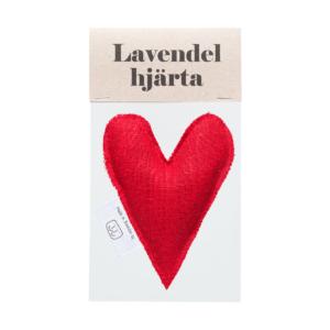 Red lavender heart in bag