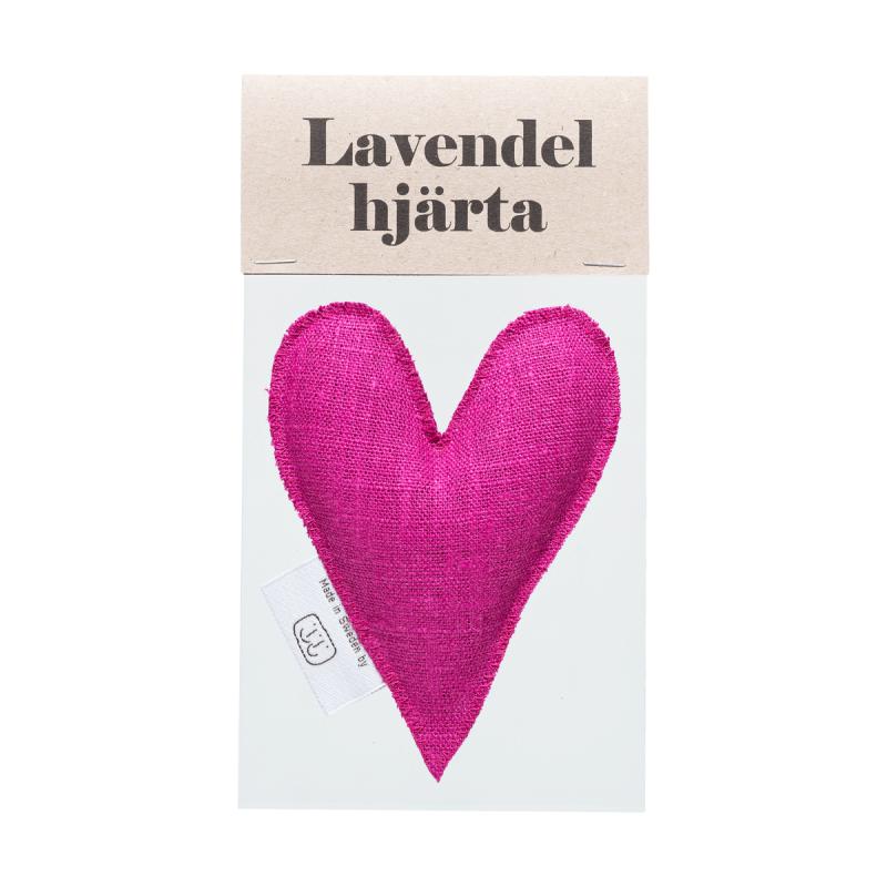 Fuchsia pink lavender heart in bag