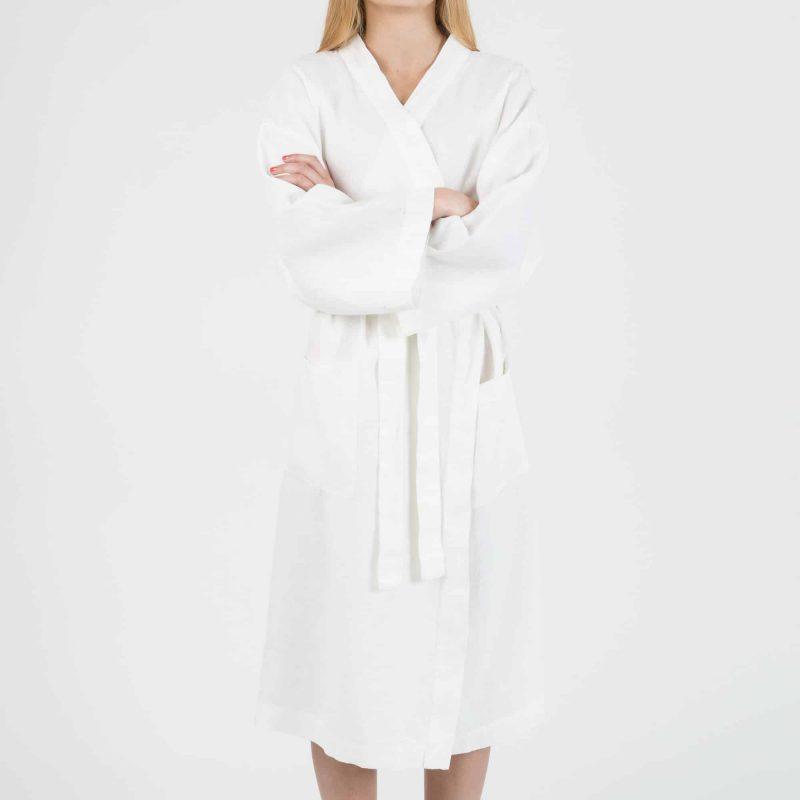 White kimono in linen