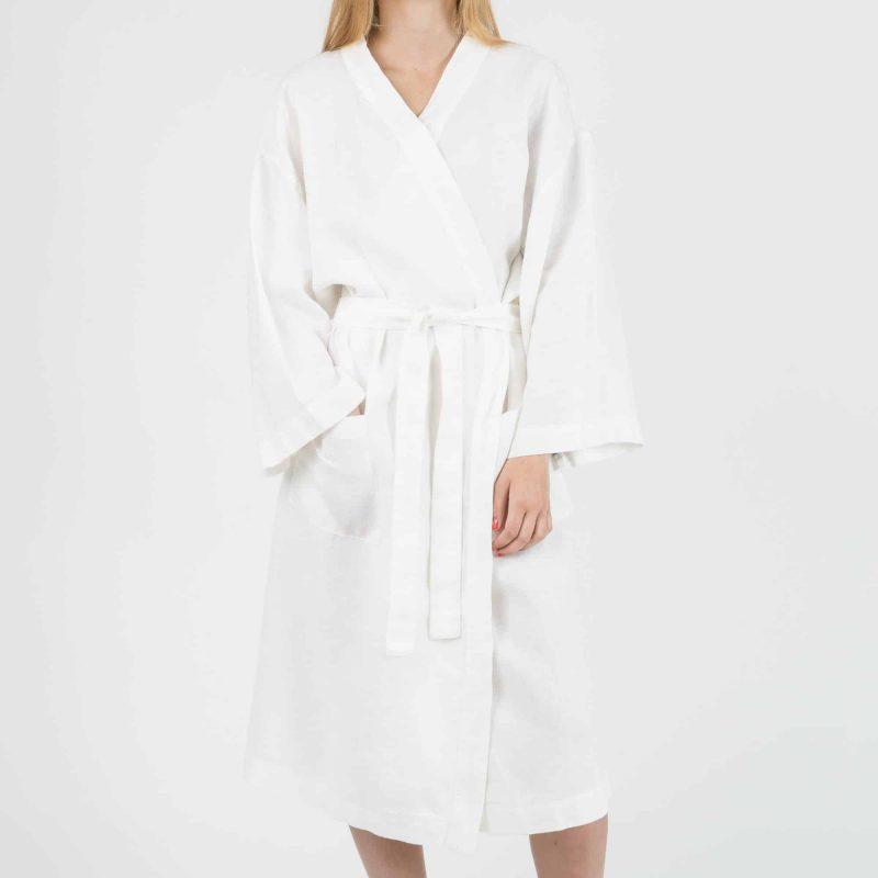 Linen Kimono - White