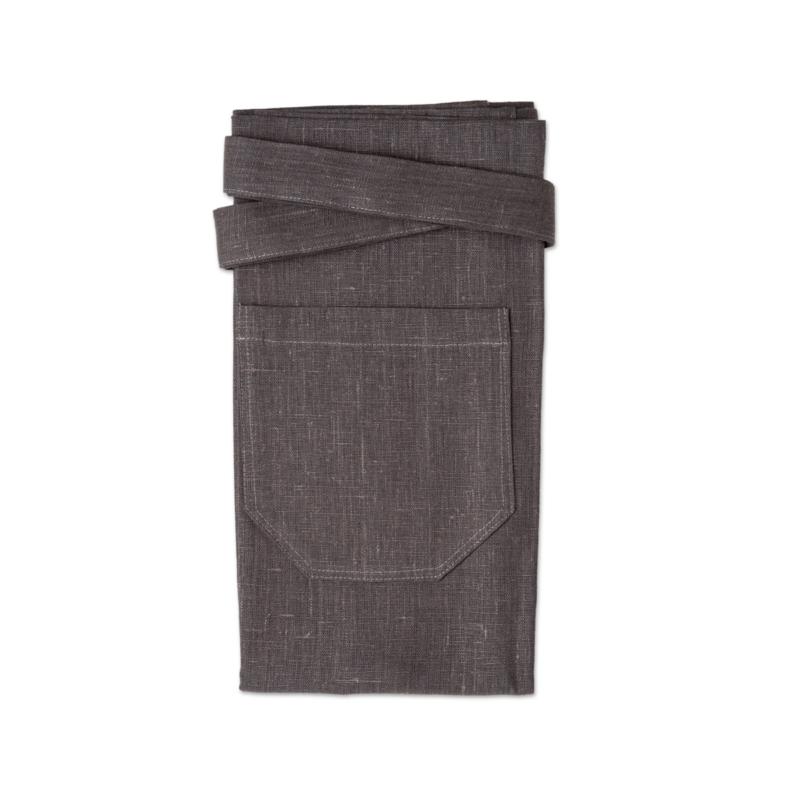 Grey bistro apron lin linen