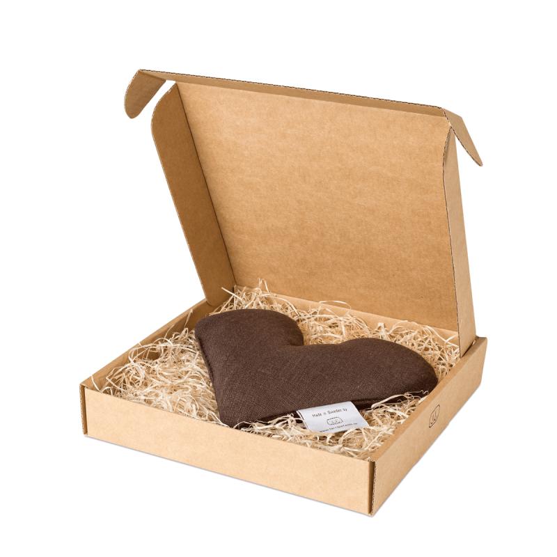 Brown sweetheart wheat warmer in box