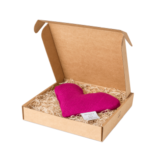 Fuchsia sweetheart wheat warmer in box